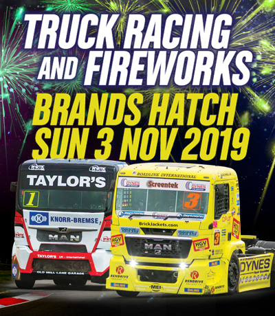 British Truck Racing and Fireworks - Brands Hatch